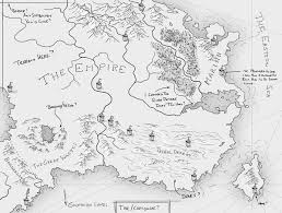Black And White Map Mapping An Ember In The Ashes Fantastic Maps