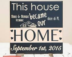 House Warming Gifts New Home Housewarming Gift Personalized New Home Frame New