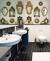 How To Hang A Large Bathroom Mirror - mismatched mirror arrangements apartment therapy
