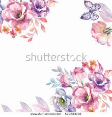 Watercolor Flowers - watercolor flowers background stock illustration 529683196