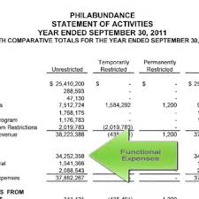 non profit financial statements example u2013 template throughout
