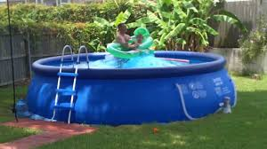 Intex 14 X 42 Inflatable Pool Tidal Wave Intex Easy Set Pool Youtube