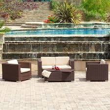 4 Piece Wicker Patio Furniture Shop Best Selling Home Decor Murano 4 Piece Wicker Patio