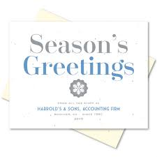 Holiday Business Cards Business Holiday Greetings Cards On Seeded Paper Organic