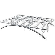 ca king size bow leg metal platform bed frame u2013 14 inch high