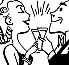 cocktail party cartoon vintage clipart cocktail party pencil and in color vintage