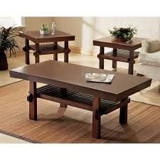 end table with shelves wonderful rustic living room furniture pictures brown varnished wood