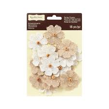 burlap flowers shop for the beaded burlap flowers by recollections signature at