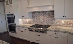 kitchen with brick backsplash kitchen backsplash 25 best inspirational brick stove finishes