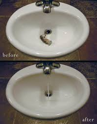 unclog bathroom sink faucet with plunger baking soda