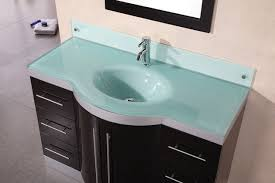 Glass Bathroom Sink Vanity Delightful Design Glass Bathroom Sinks Countertops Jade 48 Inch