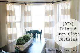 Home Decorators Curtains Diy Painted Drop Cloth Curtains Find It Make It Love It