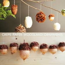 corner diy crepe paper woodland ornaments