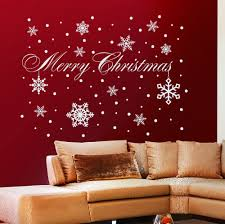 quote decals for glass merry christmas snowflakes vinyl window wall sticker quotes decals