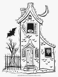 halloween haunted house coloring pages realistic coloring pages