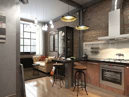 exposed brick wall lighting cool industrial apartment interior with exposed brick wall kitchen