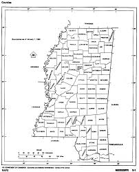 Blank County Map by Mississippi Outline Maps And Map Links