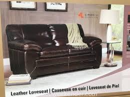 Leather Loveseat Costco Simon Li Richland Leather Loveseat Costco Weekender
