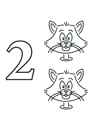 free coloring pages number 2 numbers coloring sheets