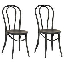 Galvanized Bistro Chair Emery Metal Bistro Chair Matte Black Set Of 2 Threshold