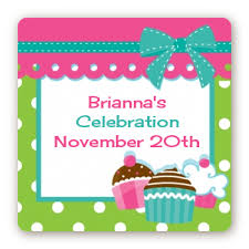 birthday stickers cupcake trio birthday party stickers candles favors