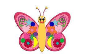 free coloring butterfly picture for kids