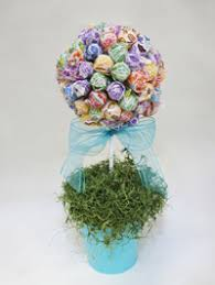 Candy Topiary Centerpieces - topiary made from dum dums good ideas and tips