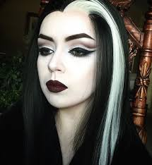 Munsters Halloween Costumes Lily Munster Makeup Wig Cruellydeparted Instagram