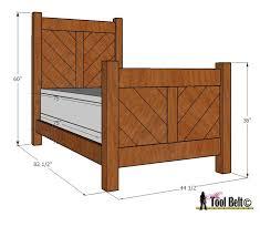 chevron twin bed plan her tool belt