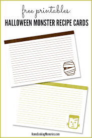 printable recipes free free printable recipe cards for halloween home cooking memories