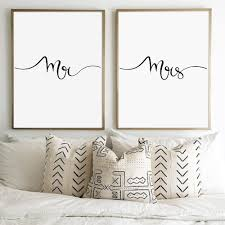online shop mr and mrs print wall art canvas painting gifts for
