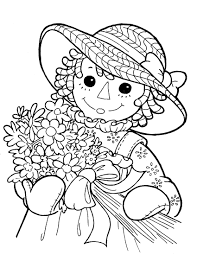 holly hobbie coloring pages raggedy ann andy coloring page line drawings pinterest