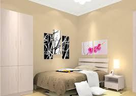 Empty White Bedroom Beige 3d House