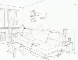draw room layout architectural interior drawing bedroom sketch stock draw apartment