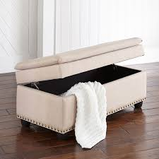 extra wide ottoman with studs benches u0026 ottomans brylanehome