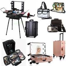 makeup luggage with lights lighted makeup case ebay