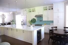 white kitchen cabinets with aqua backsplash westlake contemporary white kitchen with aqua backsplash