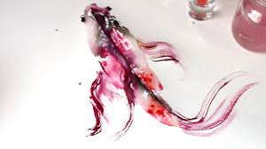 watercolor tutorial koi fish painting wet to wet technique