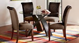 Black Round Dining Room Table by Del Mar Ebony 5 Pc Round Dining Set Dining Room Sets Black