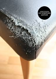 How To Patch Leather Sofa The Interior Diyer How To Repair Cat Scratched Leather