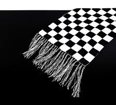 100 Pics Flags Cafe Racer Schal Tuch Schwarz Weiß