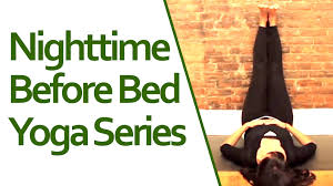 Lower Back Stretches In Bed Nighttime Yoga Before Bed Series Stretching Before Bed Youtube