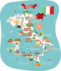 Map Of Florence Italy Cartoon Map Of Italy Stock Vector Art 503837692 Istock