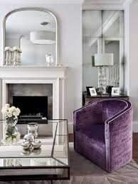 Purple Armchair Antique Accent Chairs Living Room Traditional With Velvet Armchair