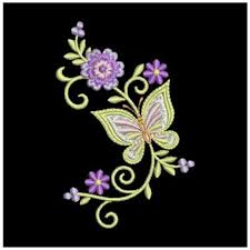 butterfly flower embroidery design plants embroidery makaroka com