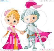 cartoon prince and princess in