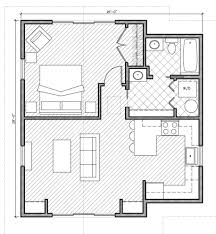 simple house plan with 1 bedrooms