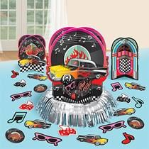 s decorations  fifties theme party  shindigz with s centerpiece decorating kit from shindigzcom