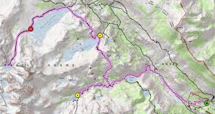 Sierra High Route Map by Final Hurrah In The Ansel Adams Wilderness Backcountry Sights