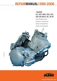 1999 u2013 2006 ktm 125 200 two stroke motorcycle engine printed